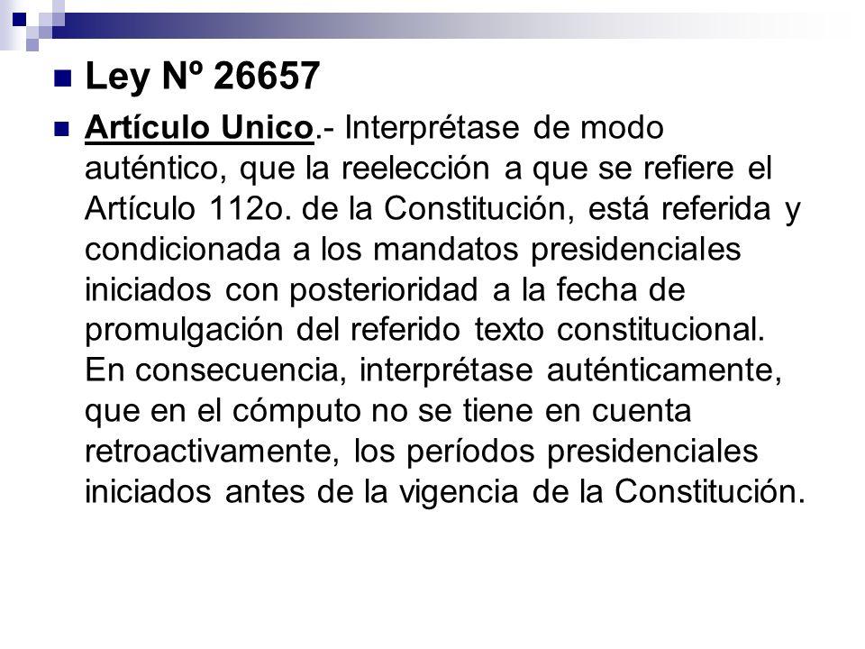 Ley Nº 26657