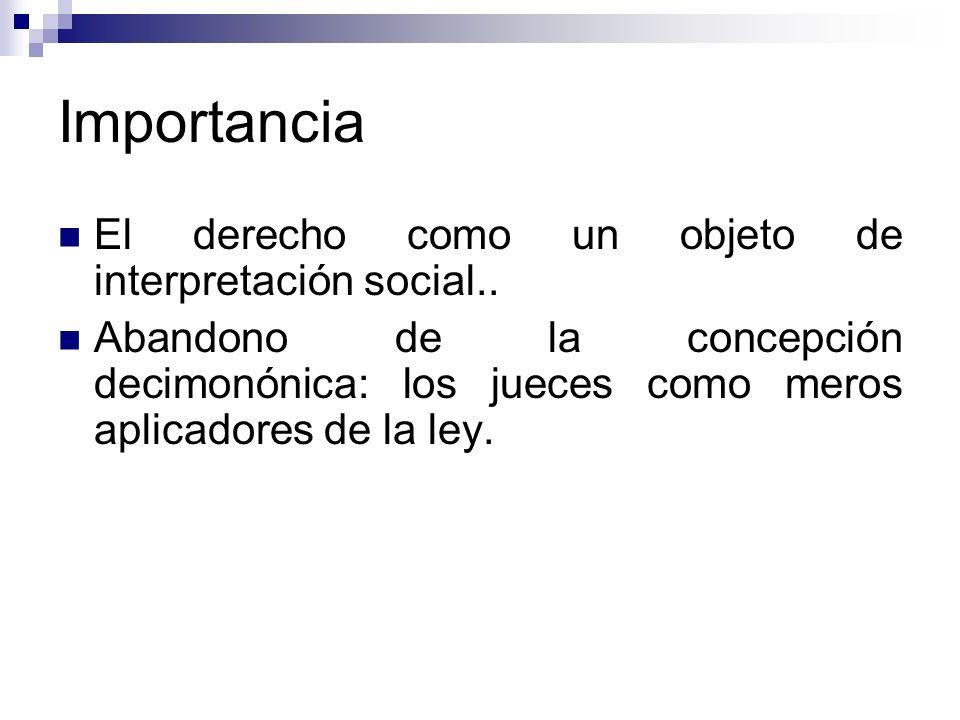 Importancia El derecho como un objeto de interpretación social..
