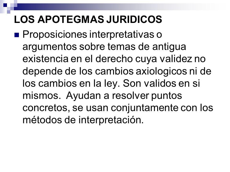 LOS APOTEGMAS JURIDICOS