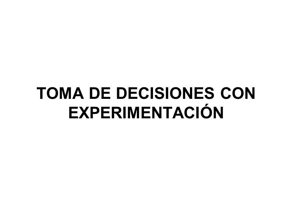 TOMA DE DECISIONES CON EXPERIMENTACIÓN