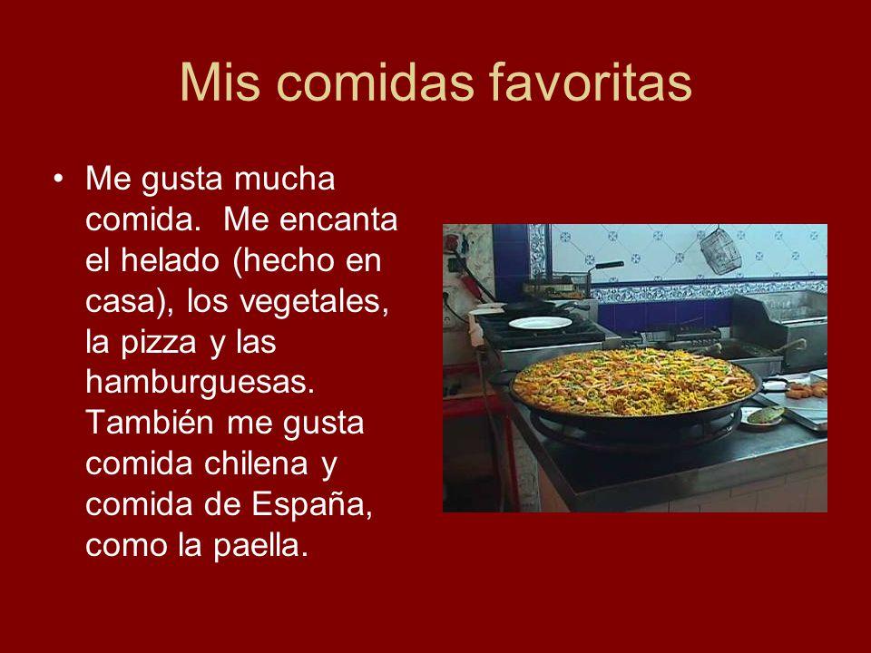 Mis comidas favoritas