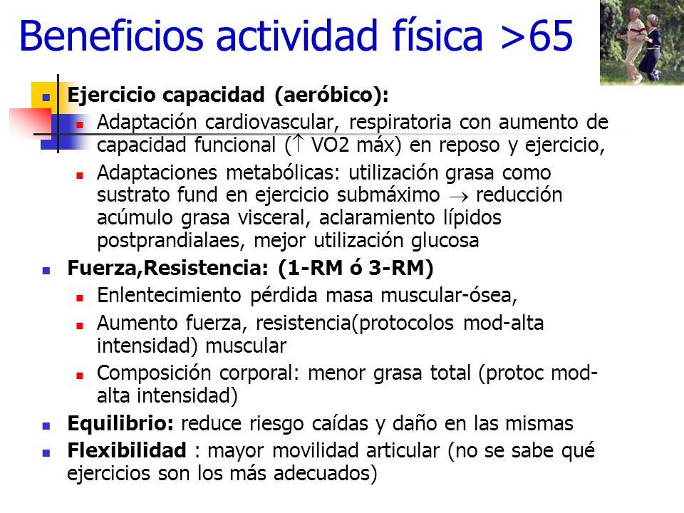 Beneficios actividad física >65