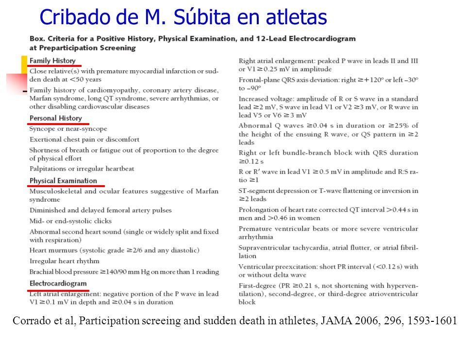 Cribado de M. Súbita en atletas