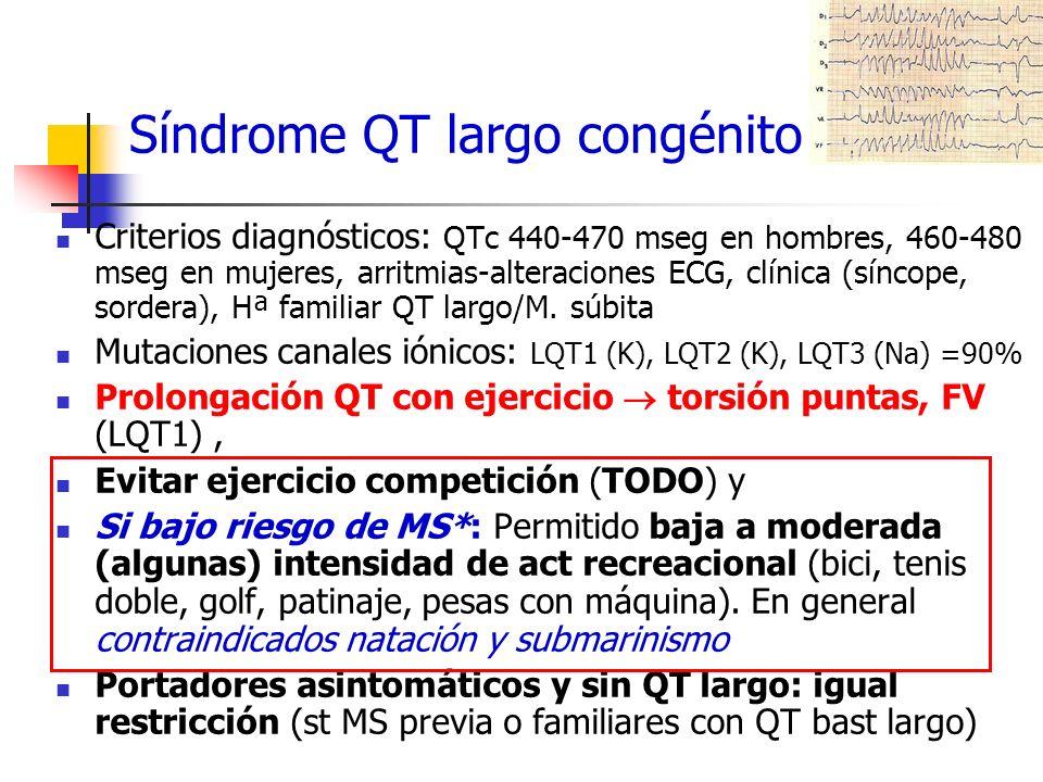 Síndrome QT largo congénito