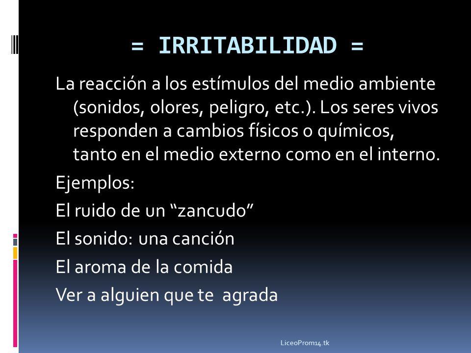 = IRRITABILIDAD =