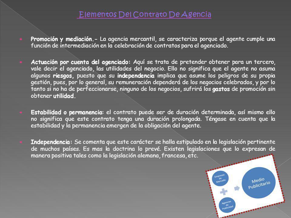 Elementos Del Contrato De Agencia