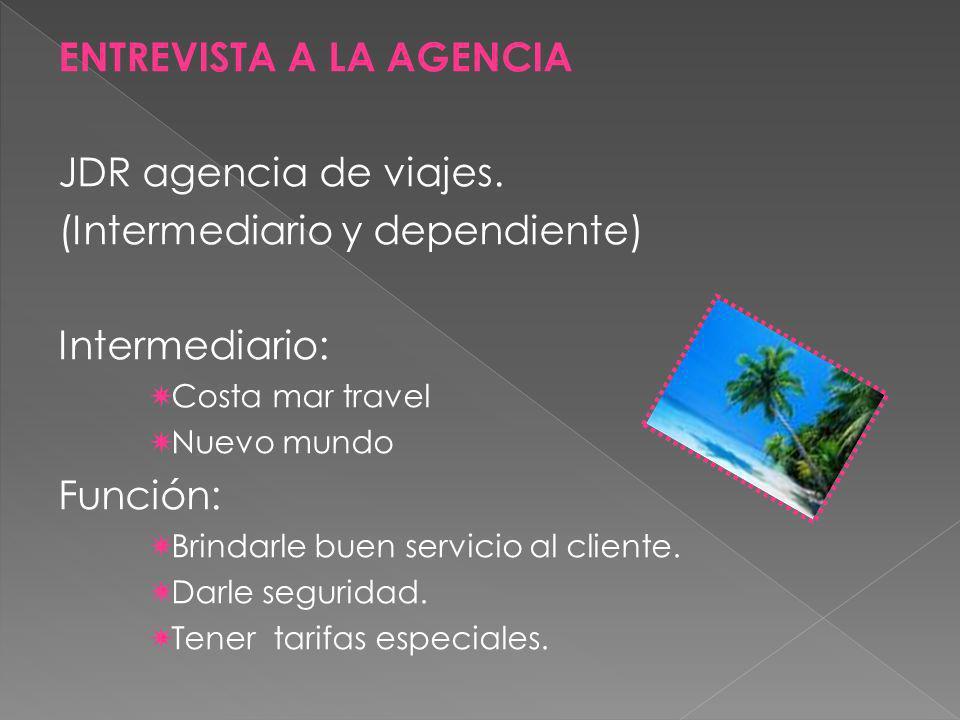 ENTREVISTA A LA AGENCIA JDR agencia de viajes.