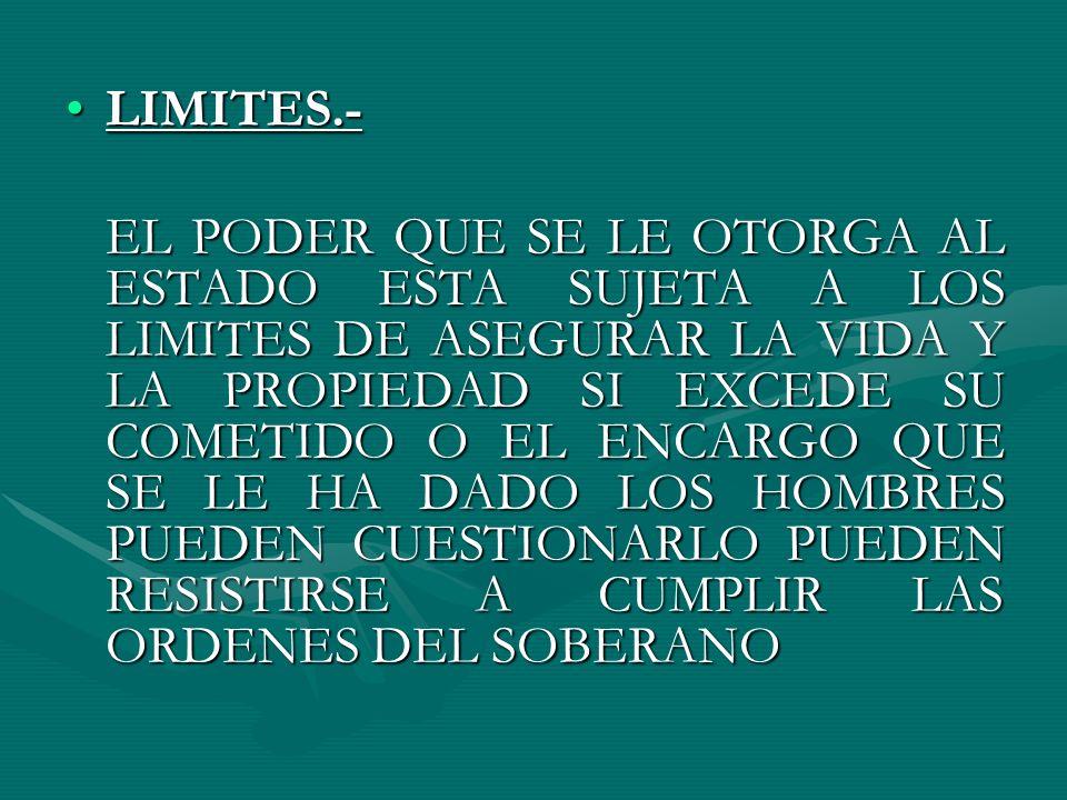 LIMITES.-