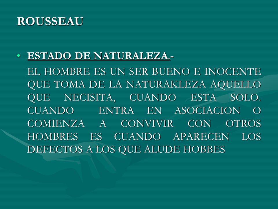 ROUSSEAU ESTADO DE NATURALEZA.-