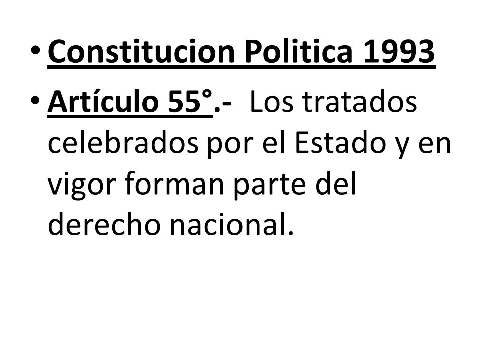 Constitucion Politica 1993