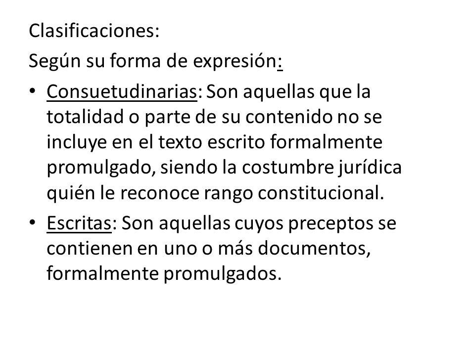 Clasificaciones: Según su forma de expresión: