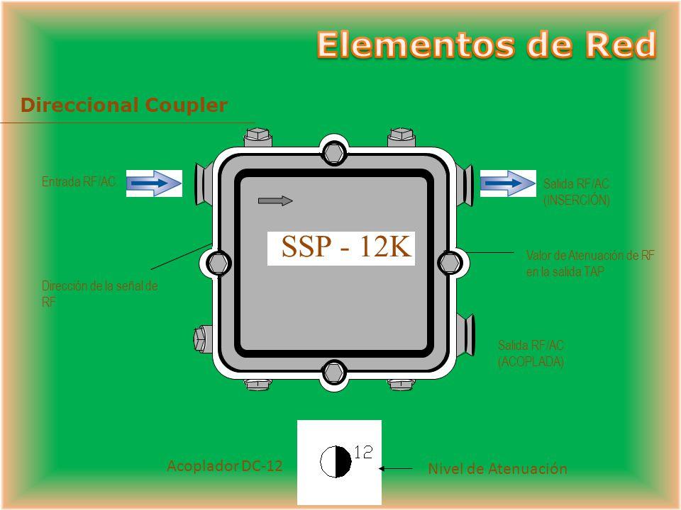 Elementos de Red SSP - 12K Direccional Coupler Acoplador DC-12