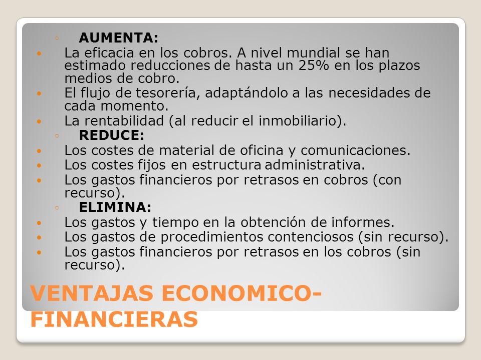 VENTAJAS ECONOMICO-FINANCIERAS