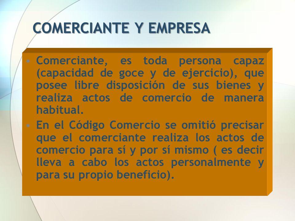 COMERCIANTE Y EMPRESA