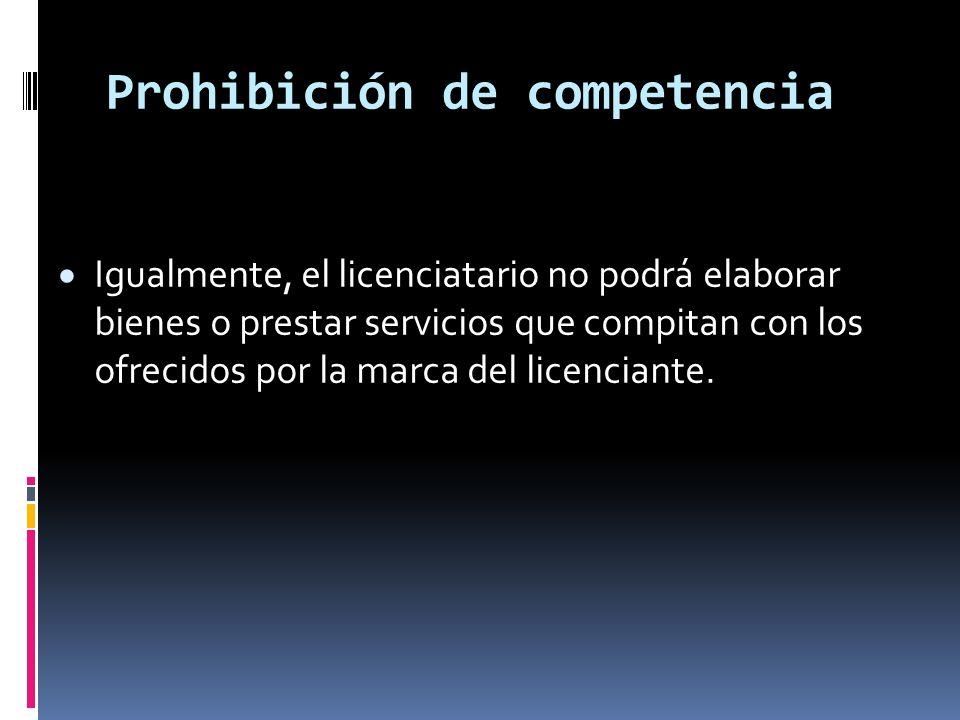 Prohibición de competencia