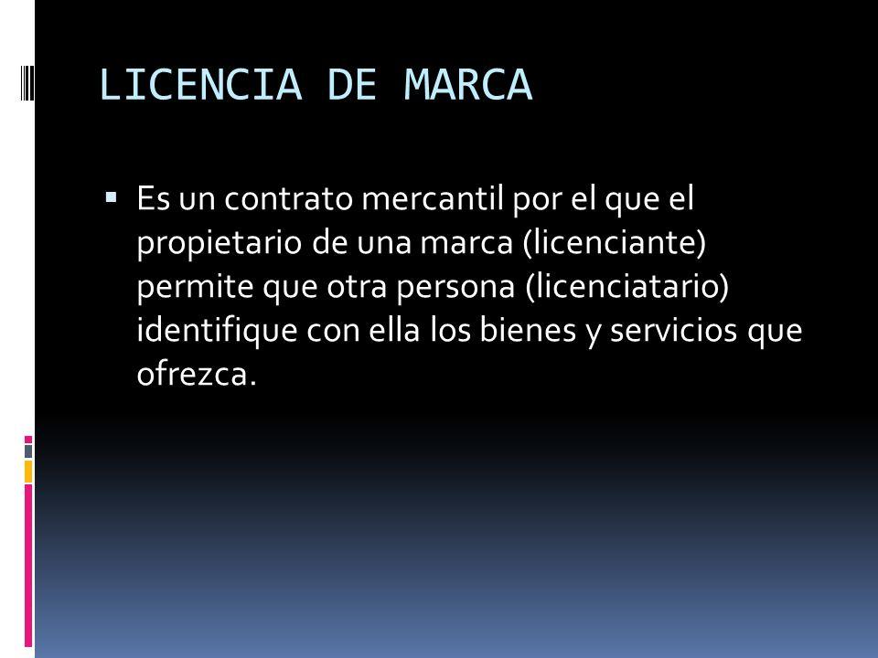 LICENCIA DE MARCA