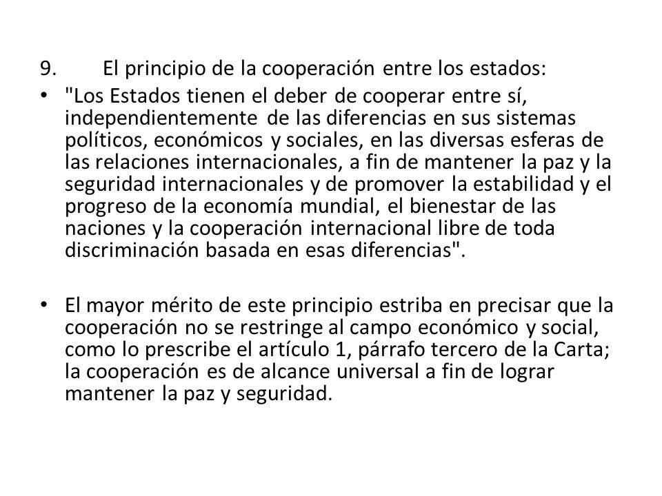 El principio de la cooperación entre los estados:
