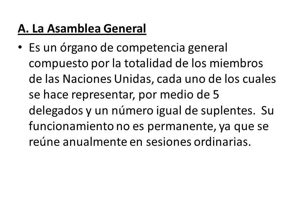 A. La Asamblea General