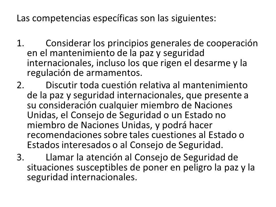 Las competencias específicas son las siguientes: