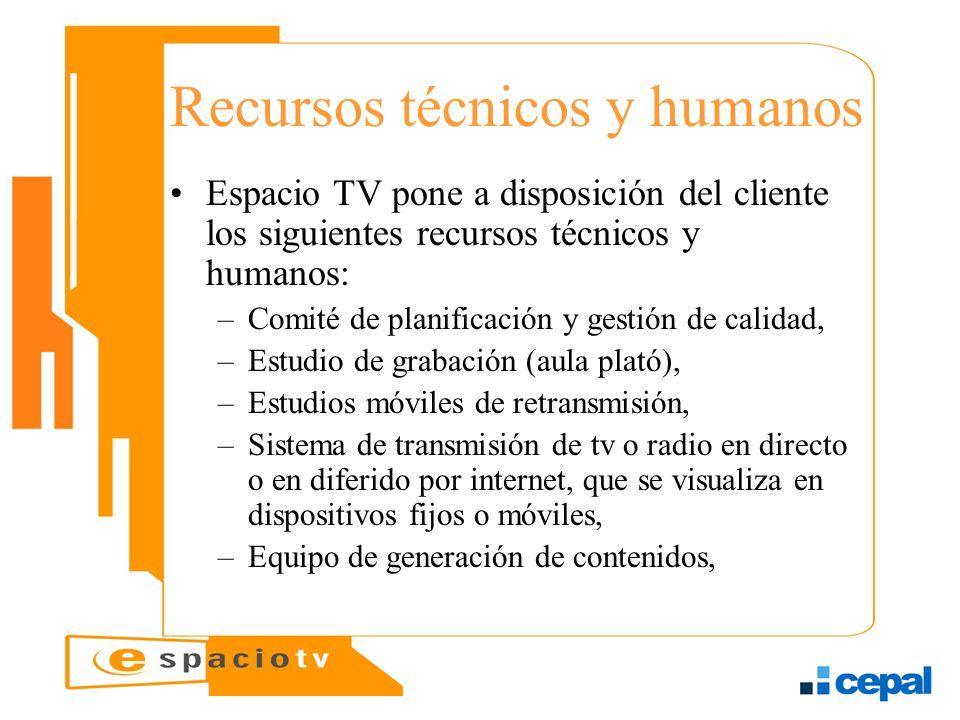 Recursos técnicos y humanos