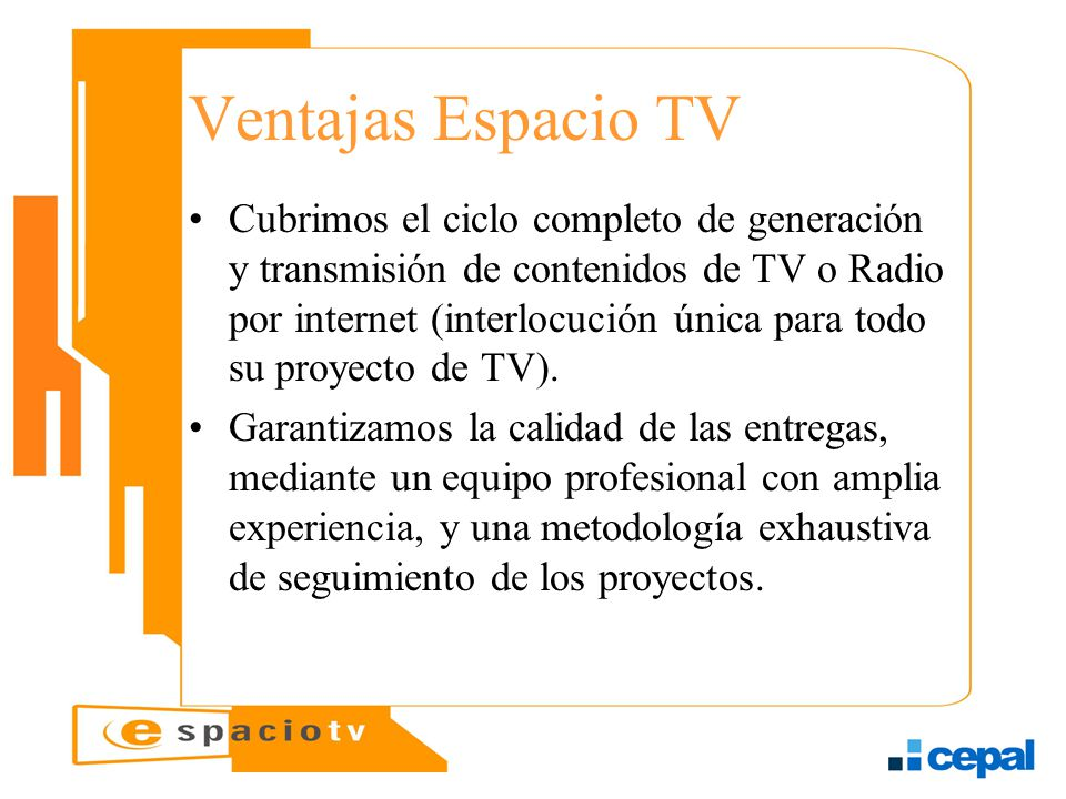 Ventajas Espacio TV