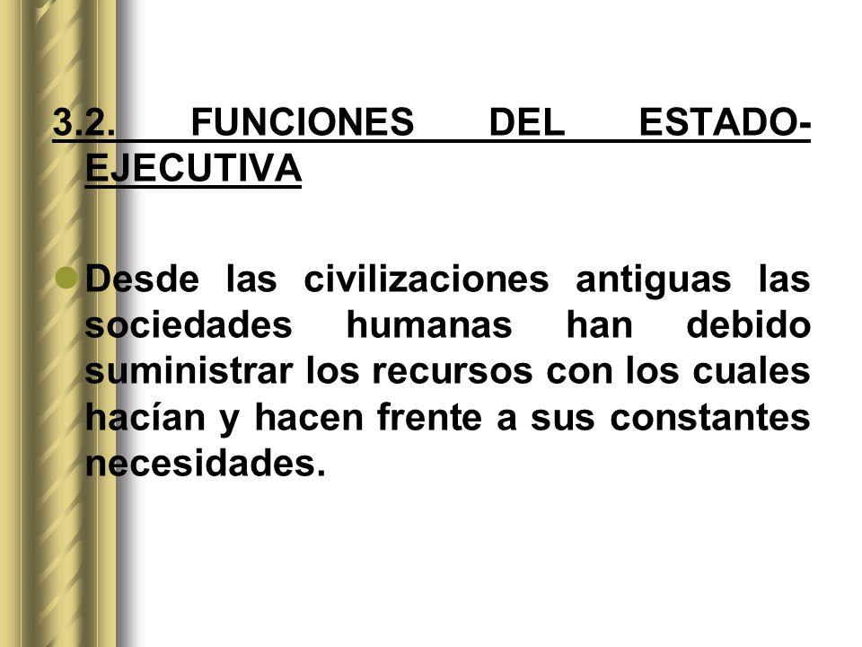 3.2. FUNCIONES DEL ESTADO- EJECUTIVA