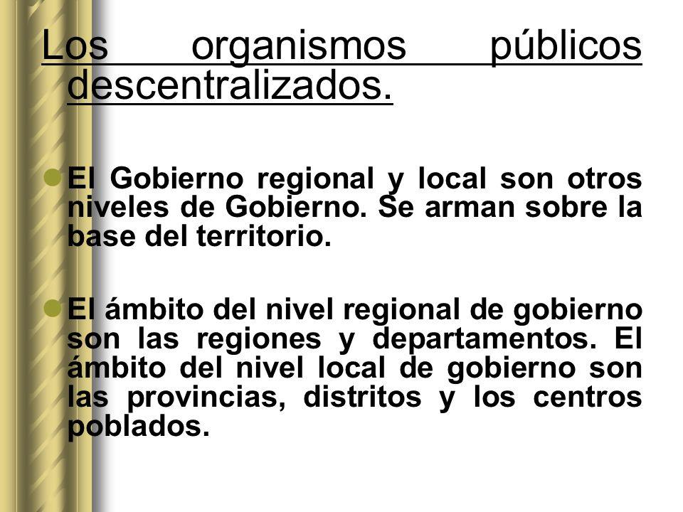 Los organismos públicos descentralizados.
