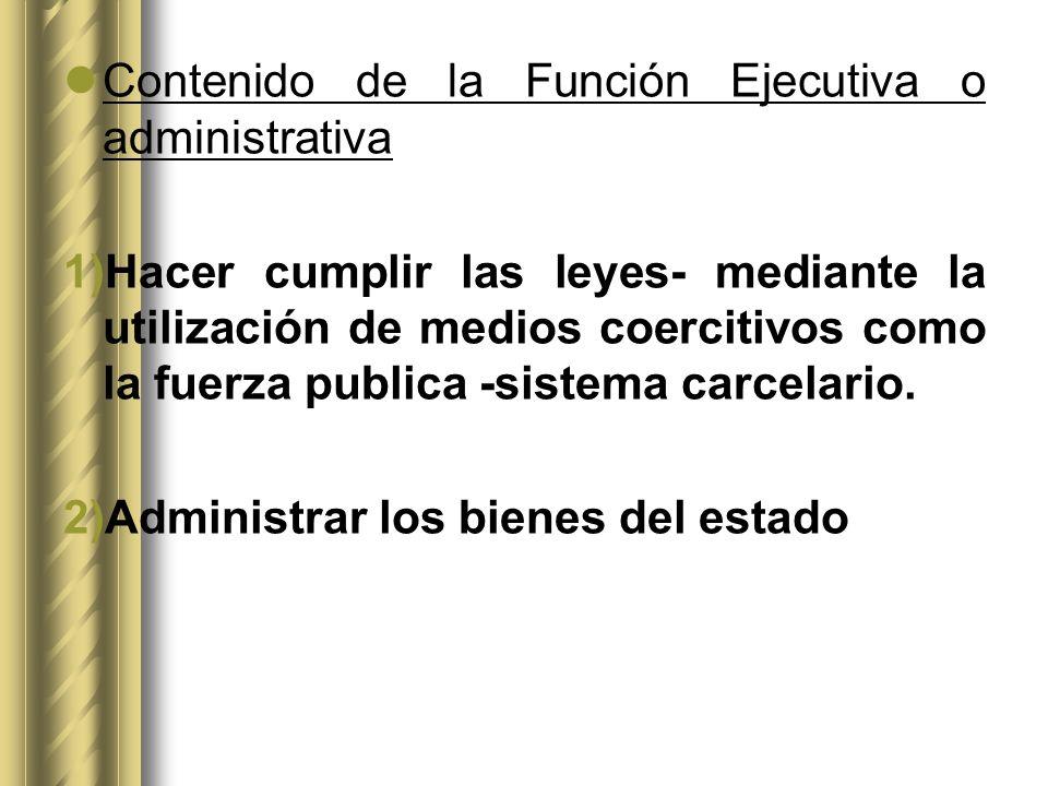 Contenido de la Función Ejecutiva o administrativa