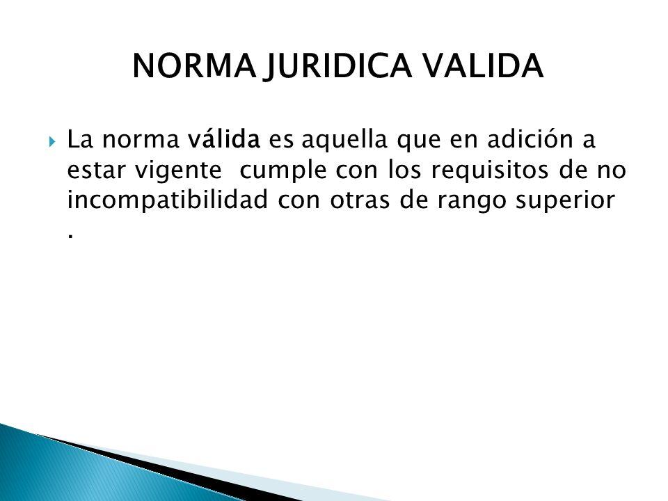 NORMA JURIDICA VALIDA