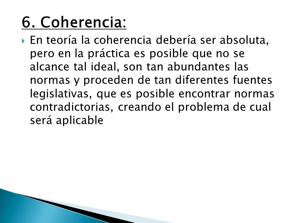 6. Coherencia: