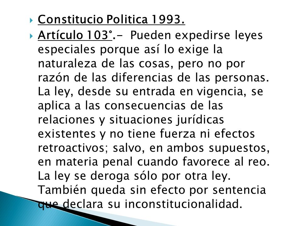 Constitucio Politica 1993.