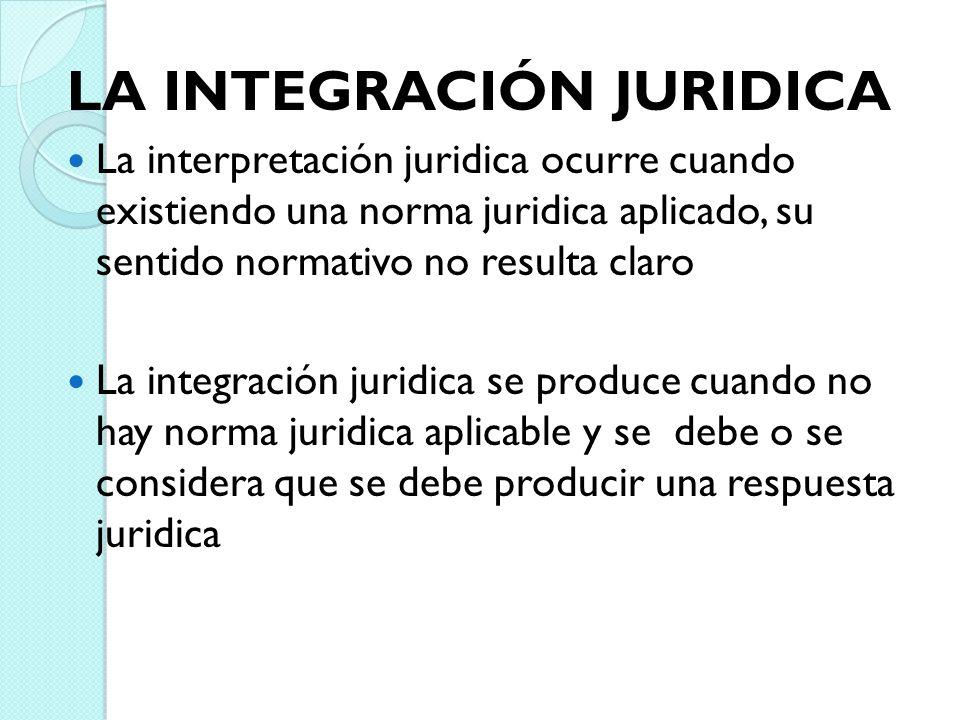 LA INTEGRACIÓN JURIDICA