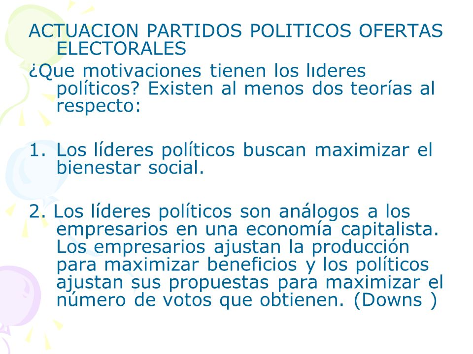 ACTUACION PARTIDOS POLITICOS OFERTAS ELECTORALES
