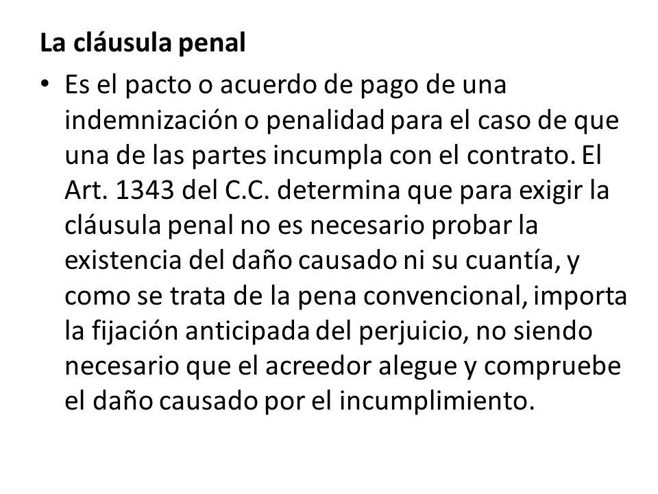 La cláusula penal