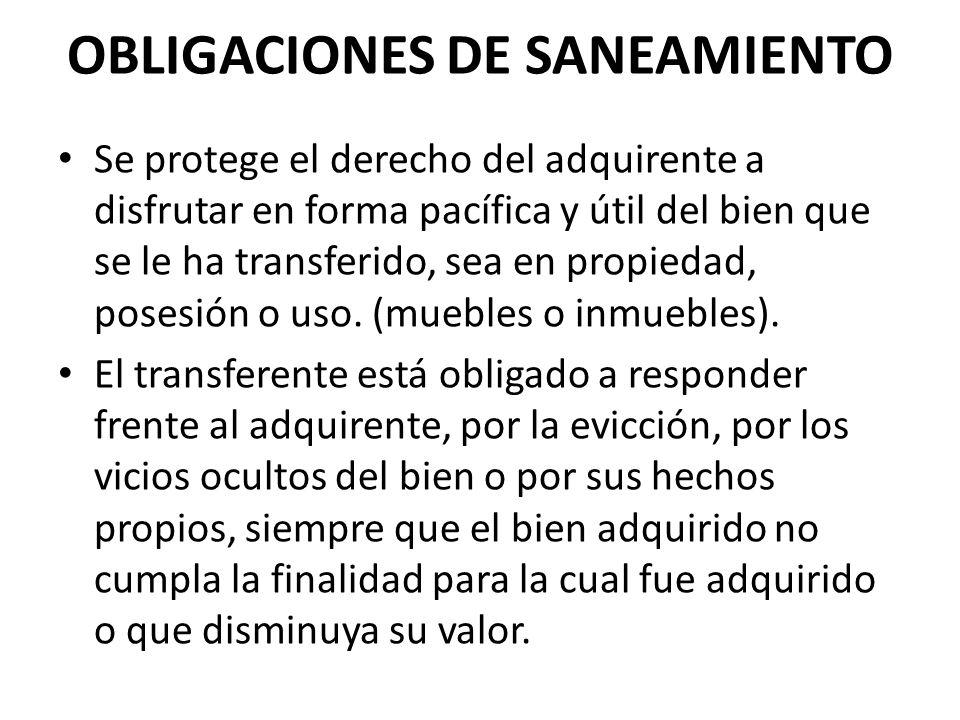 OBLIGACIONES DE SANEAMIENTO