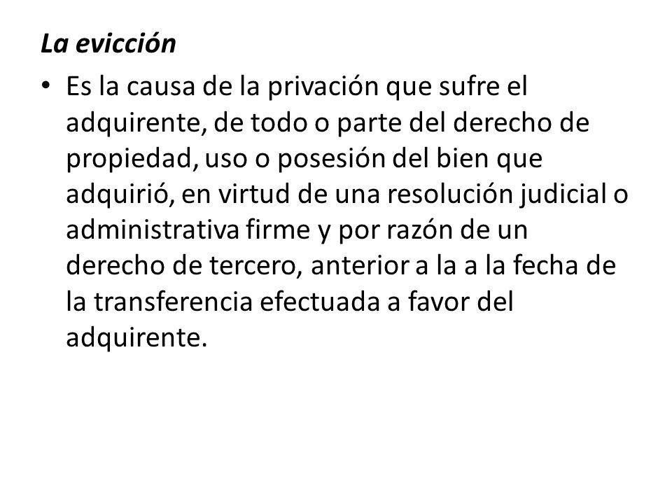 La evicción