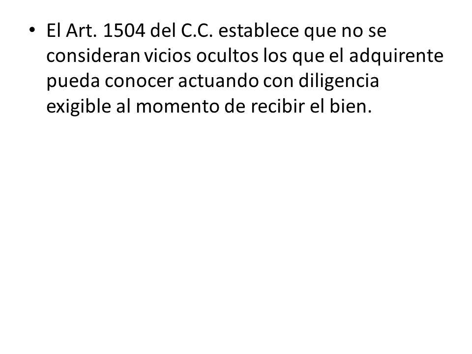 El Art. 1504 del C.C.