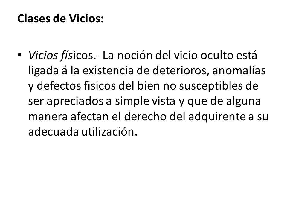 Clases de Vicios:
