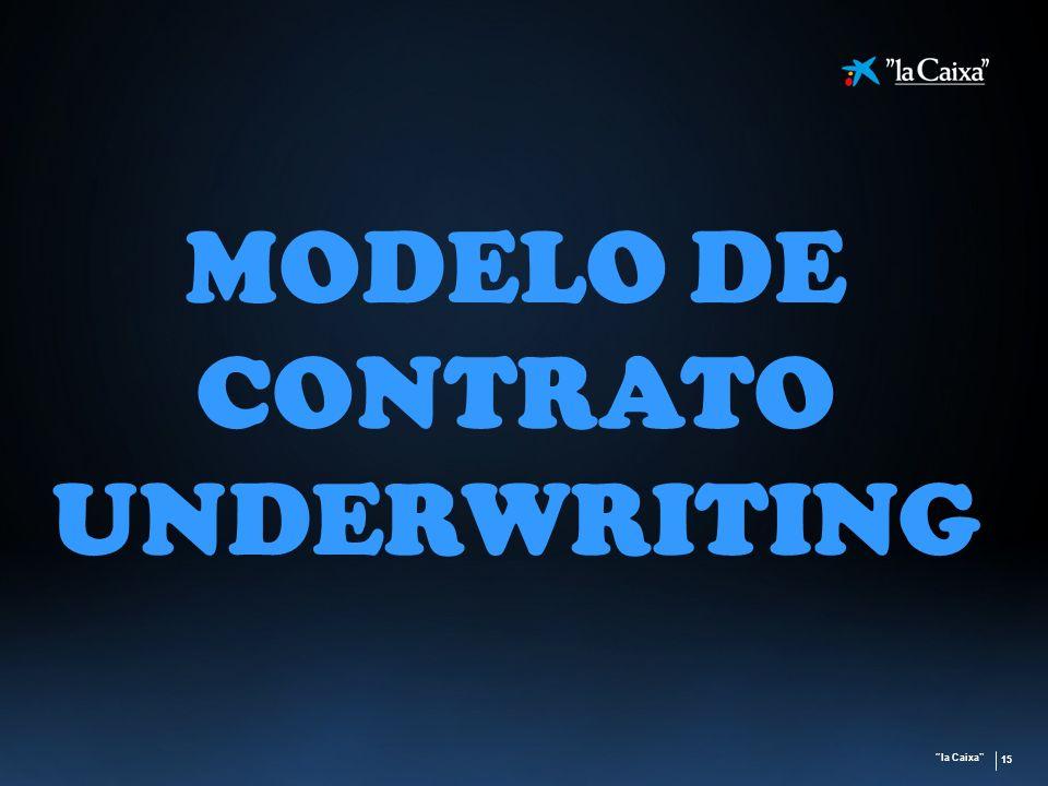 MODELO DE CONTRATO UNDERWRITING
