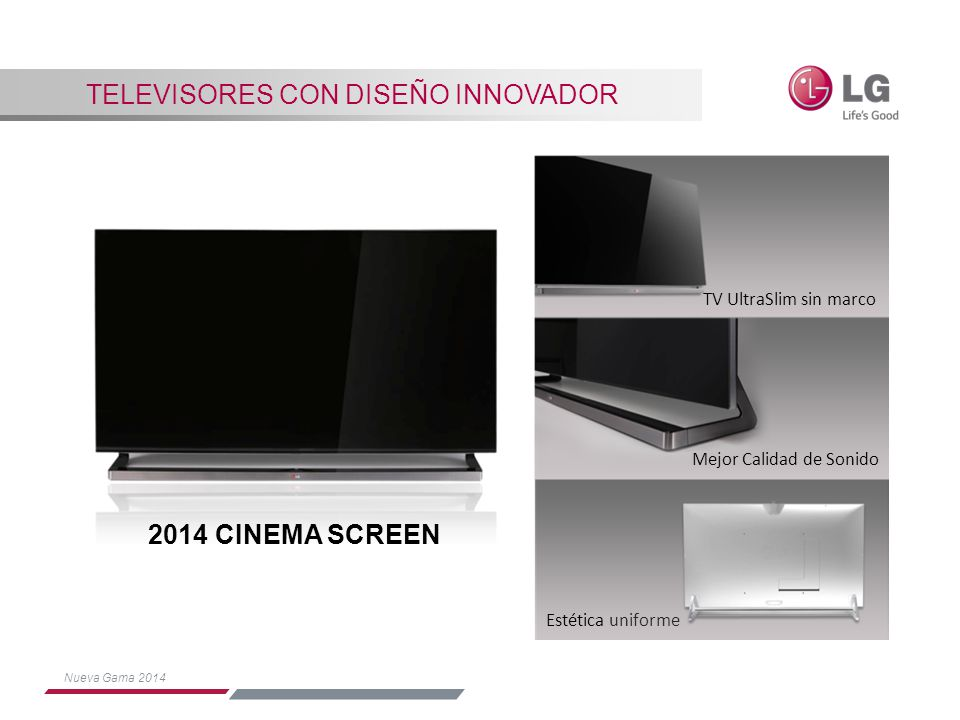 Televisores con diseño innovador