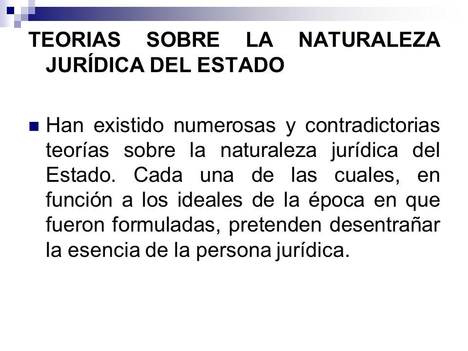 TEORIAS SOBRE LA NATURALEZA JURÍDICA DEL ESTADO