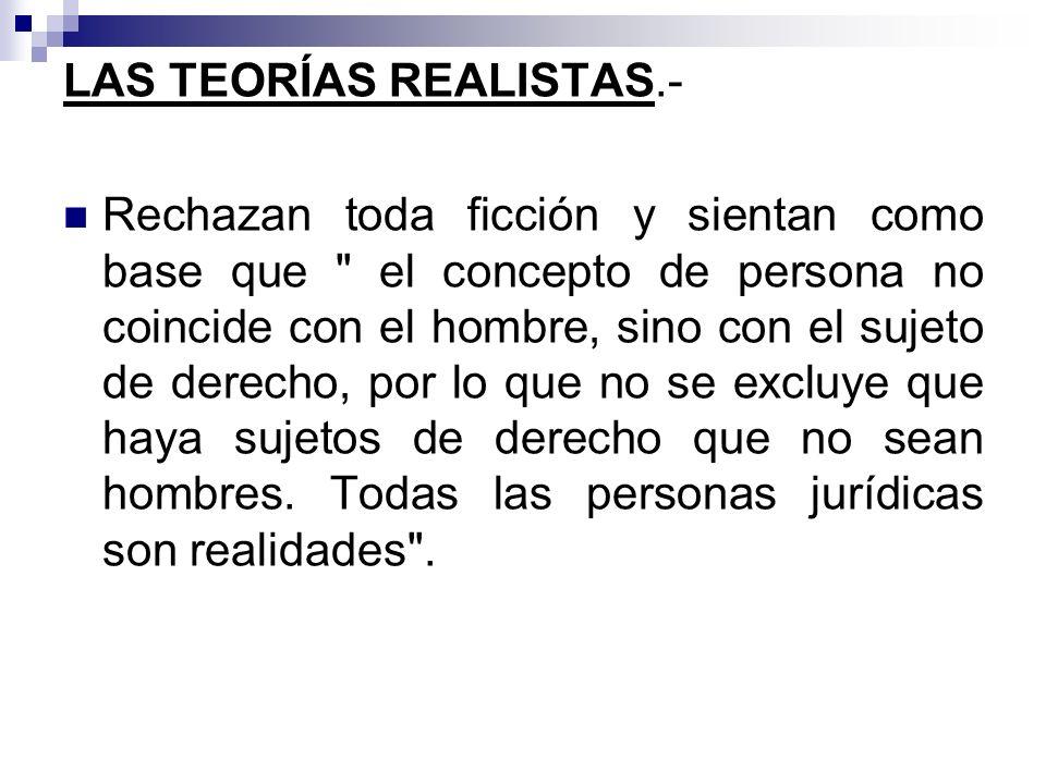 LAS TEORÍAS REALISTAS.-