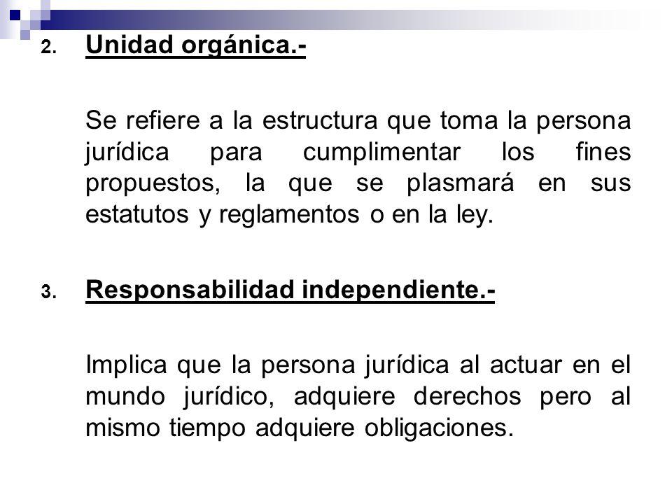 Unidad orgánica.-