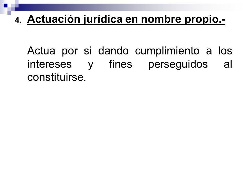 Actuación jurídica en nombre propio.-