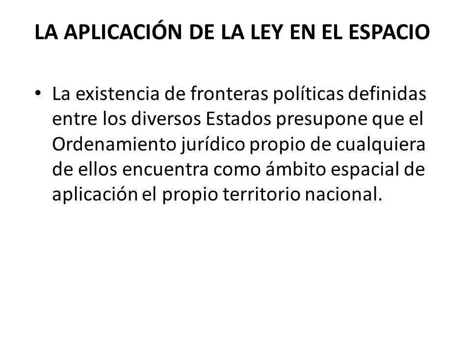 LA APLICACIÓN DE LA LEY EN EL ESPACIO