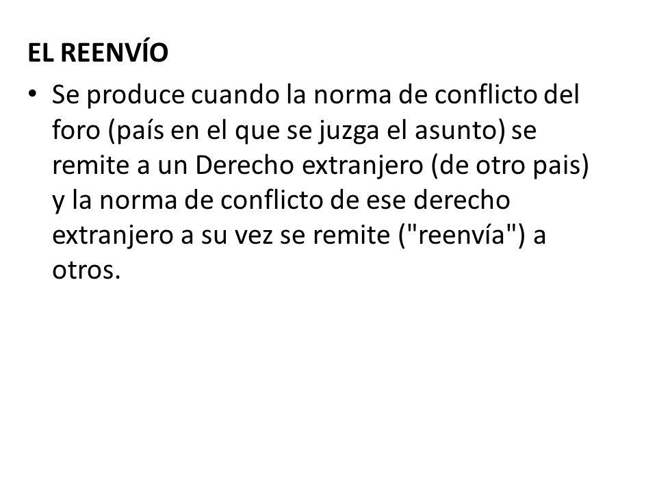 EL REENVÍO
