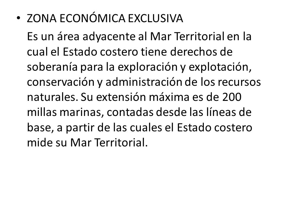 ZONA ECONÓMICA EXCLUSIVA