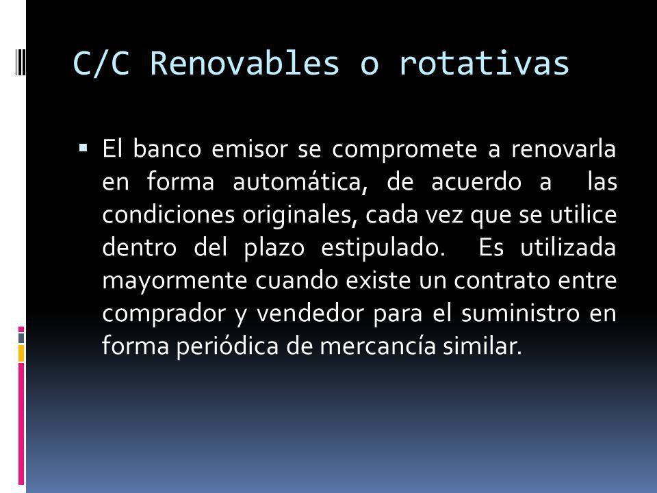 C/C Renovables o rotativas