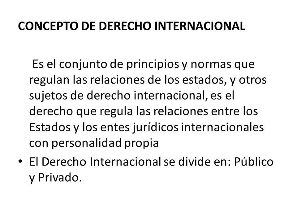 CONCEPTO DE DERECHO INTERNACIONAL