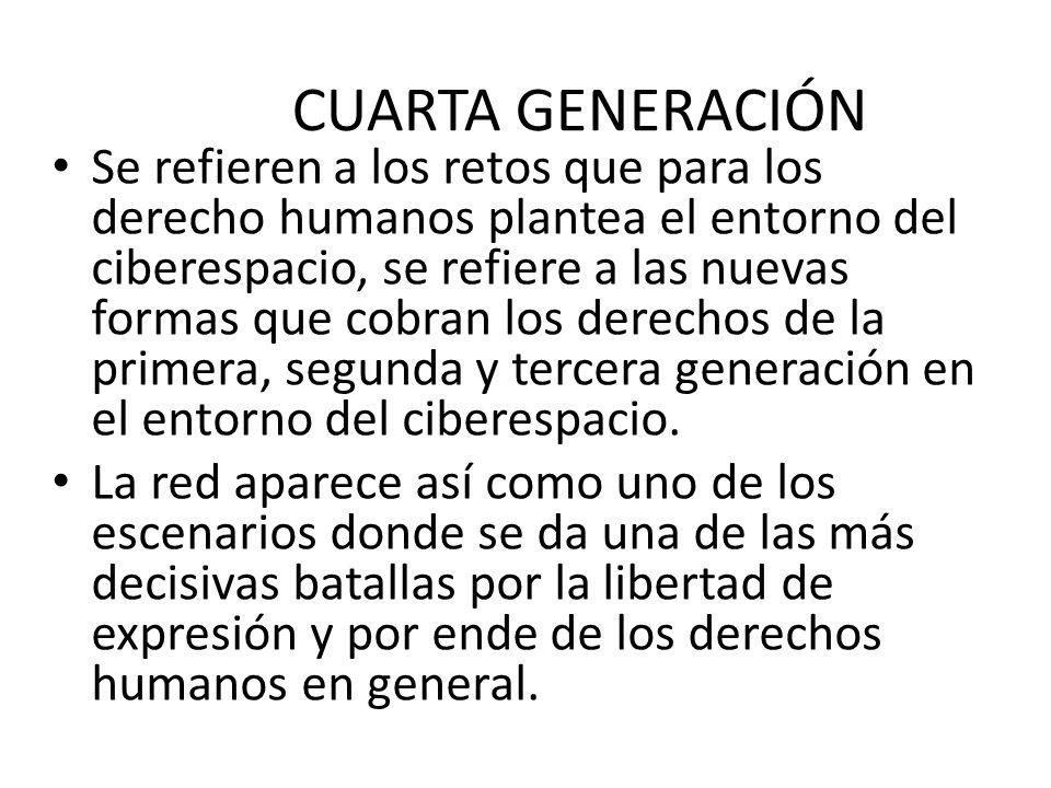 Derechos De Cuarta Generacion | Derechos Humanos Ppt Descargar